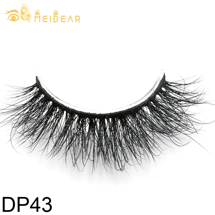Real Siberian mink lashes supplier provide natural looking 3D mink eyelash with own brand box design
