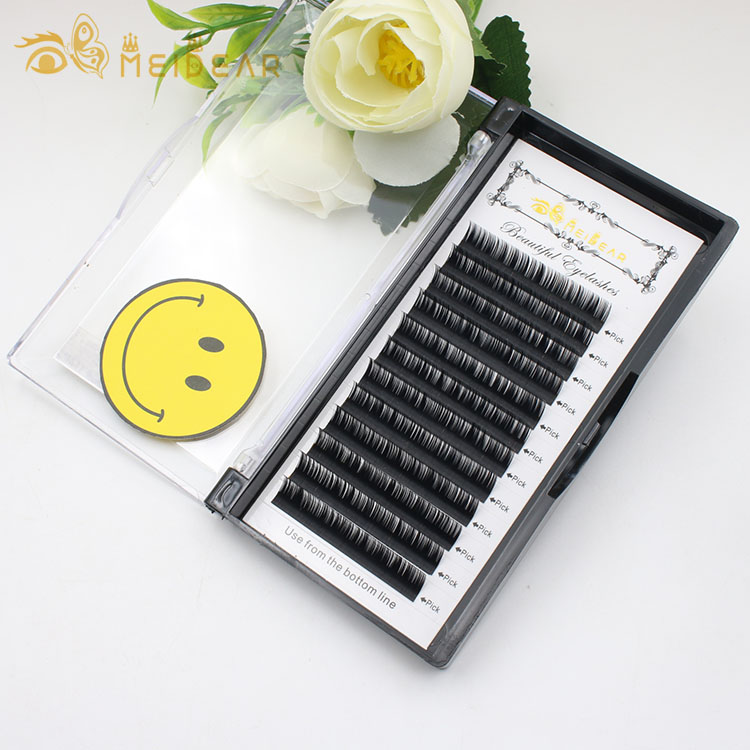 Silk lash extensions wholesale  B C CC D curl individual eyelash extensions private label