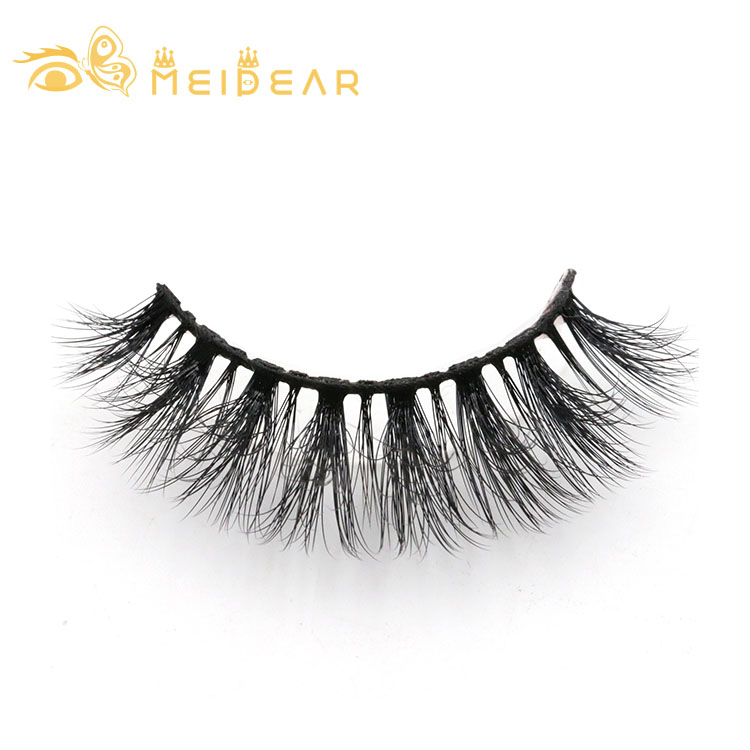 Wholesale strip false lashes with own brand packaging 3d faux mink eyelashes