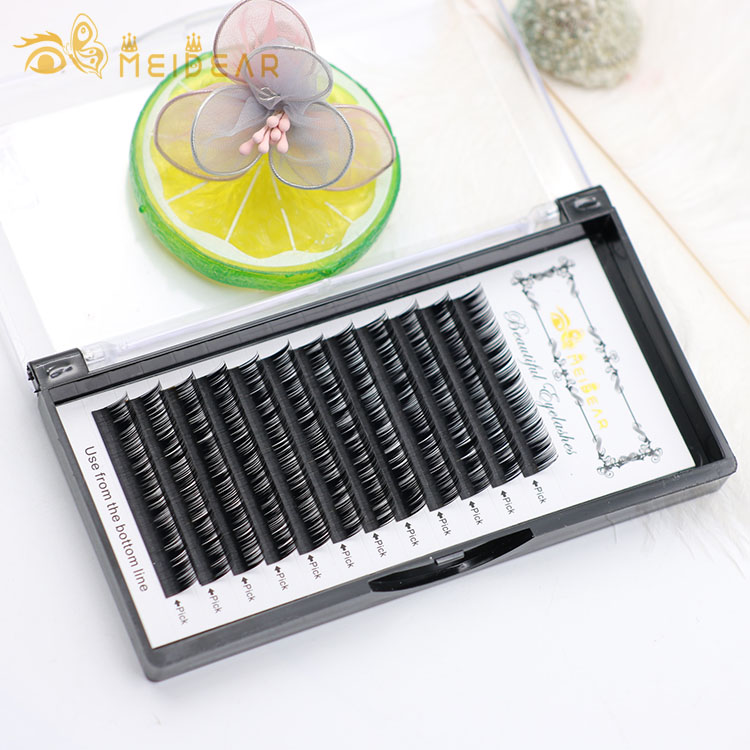 Individual eyelash manufacturer wholesale natural looking eyelash extensions in highest quality with low price