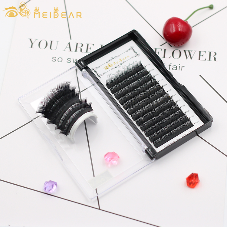 Factory supply high quality wholesale cheap silk eyelash extensions