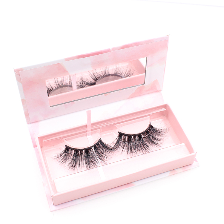 Lash vendors wholesale 3d mink fiber false eyelashes with custom box to UK