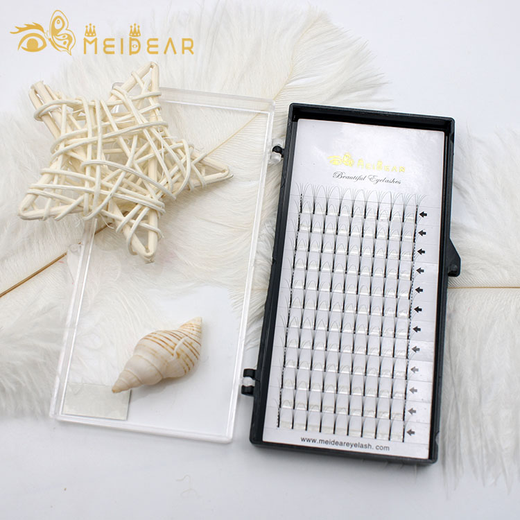 Natural and soft volume eyelash extension with custom logo design from factory in china