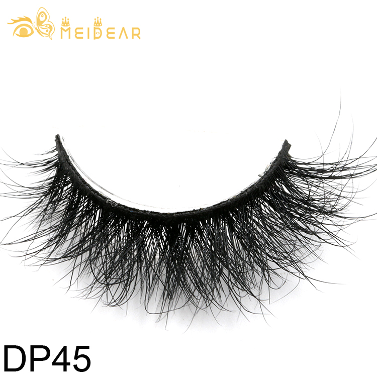 Luxury mink lashes suppliers provide handmade 3D mink eyelash with customized packaging box