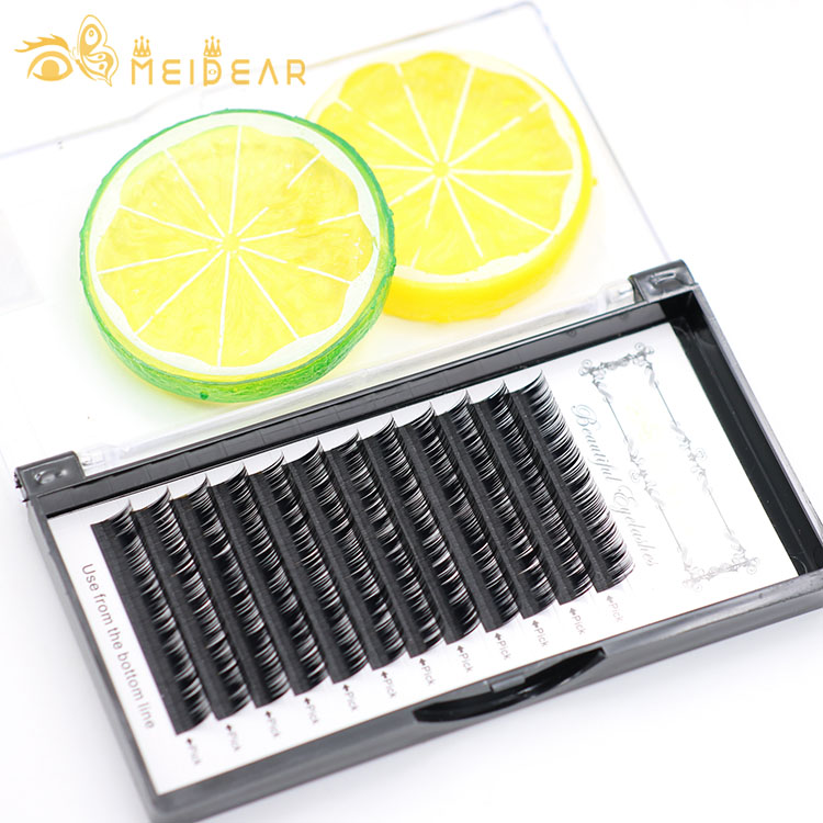 Natural looking faux mink lashes factory wholesale top quality eyelash individual extensions with private label packaging