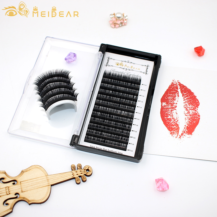 Silk eye lash extensions supplies wholesale manufactuer china