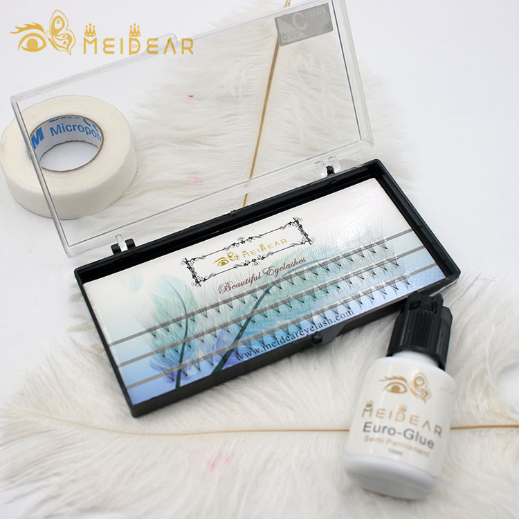 Factory supply best synthetic fiber premade fans eyelash extensions with wholesale price