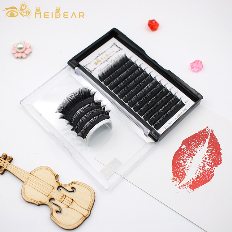 Meidear factory supply silk eyelash extension to all over the world