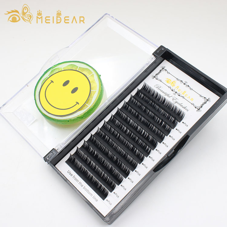 Eyelash extension supplies manufacturers supply B C CC D curl thickness 0.18 0.20mm with private label packaging