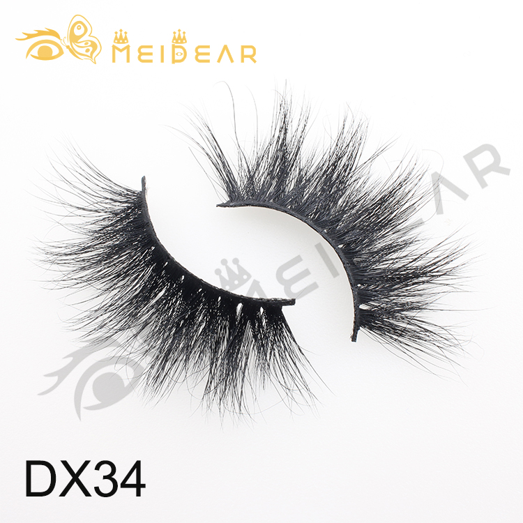 Eyelash vendor wholesale private label 25mm 3D mink eyelashes with own brand
