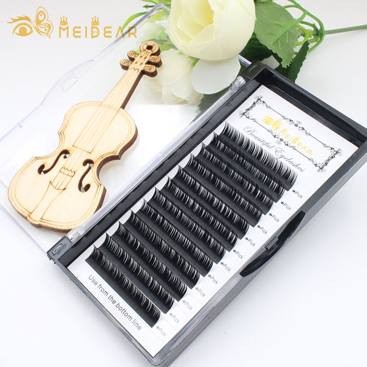 Eyelash wholesaler supply synthetic fiber faux mink eyelash individual extension with own brand label BW