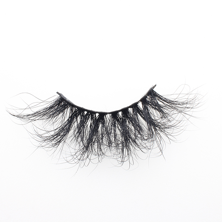 Eyelash vendors supply own brand packages for glamorous 3d mink fur lashes 25mm