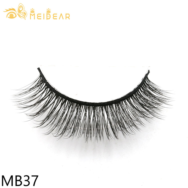 Fake lashes private label wholesale glamorous 3d silk eyelashes with high quality customized packaging