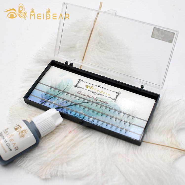 best synthetic raw material volume eyelash extension with own brand.jpg