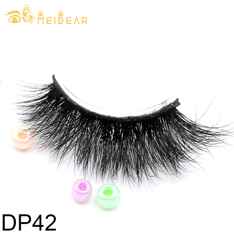 natural and fluffy 3D mink eyelash with private label packages.jpg