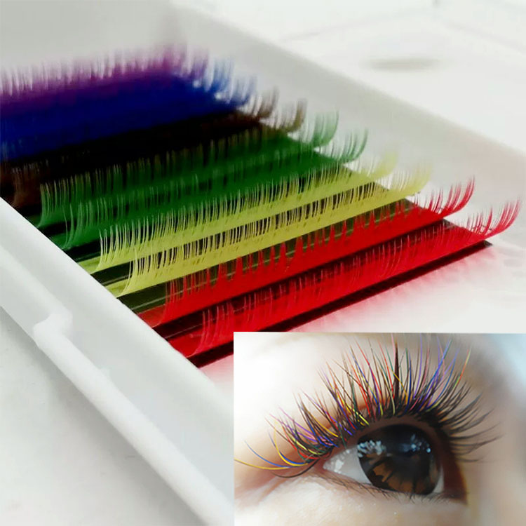 custom brand eyelash packaging with private label  colored lash extensions.jpg