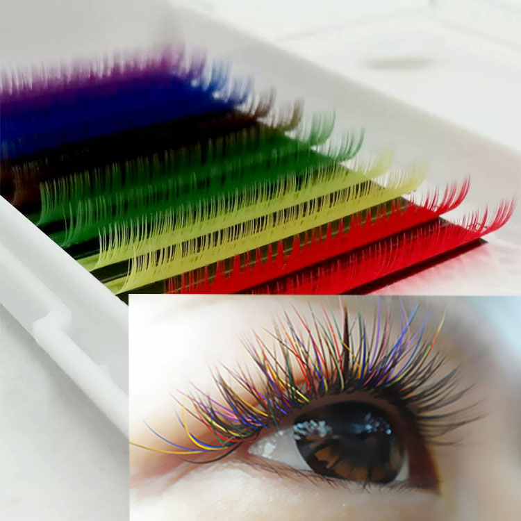 manufacturers provide glamoroud colored lash extensions to USA.jpg