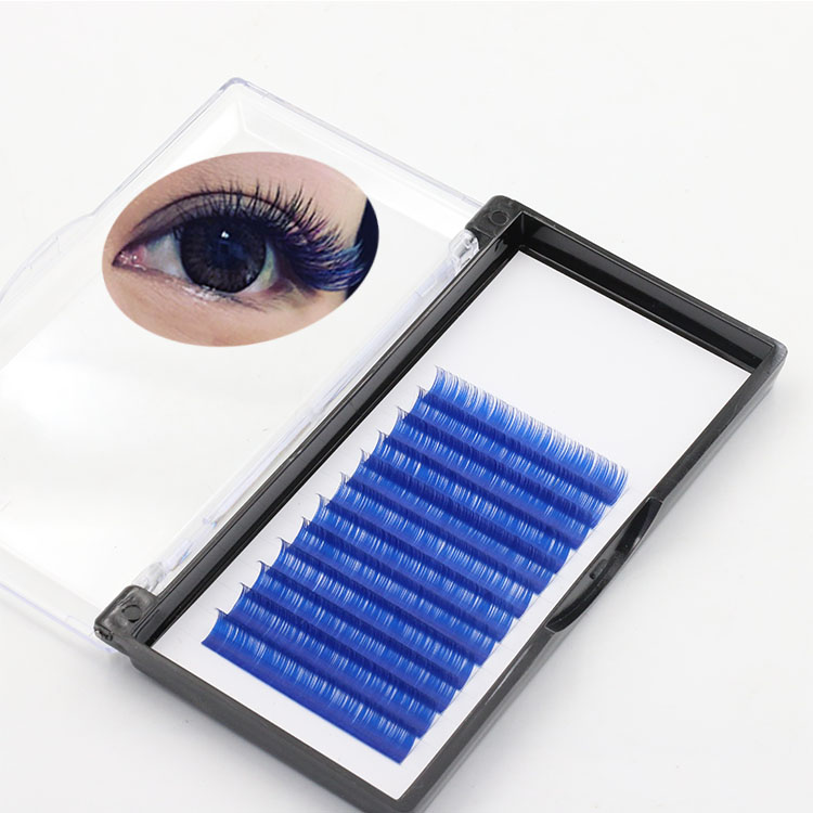 eyelash manufacturer wholesale own brand colored lash extension to UK.jpg