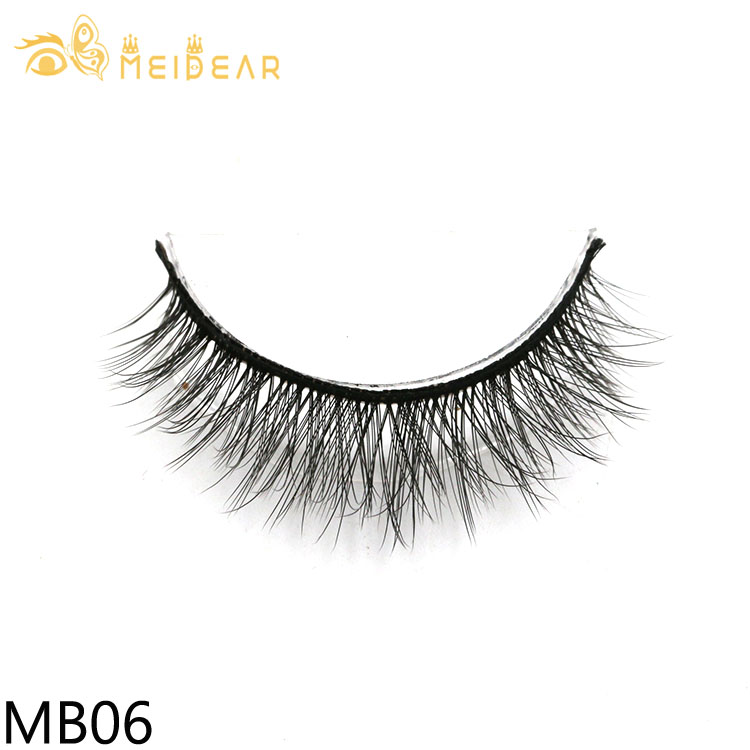 Lash vendors wholesale best synthetic 3d silk eyelashes with private label packaging Meidear