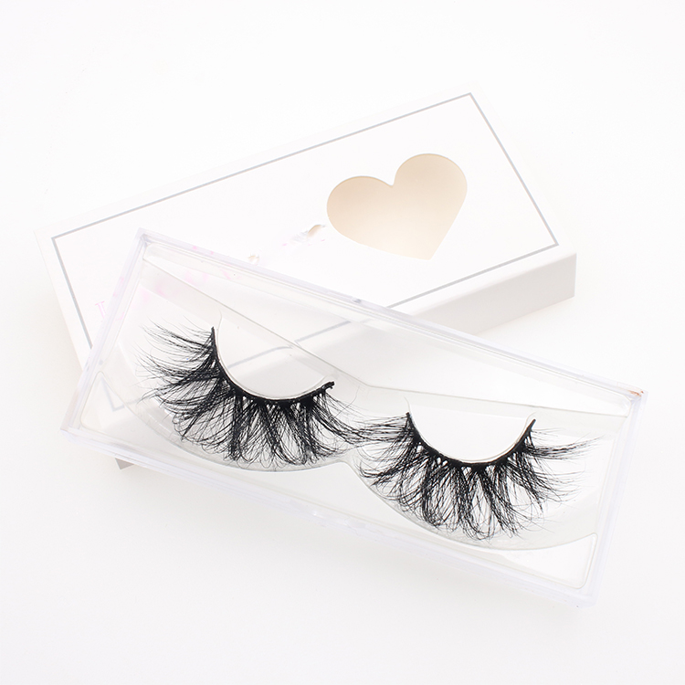 1d9a830e83c 3D false lashes vendor wholesale private label box for 27mm 5D mink  eyelashes