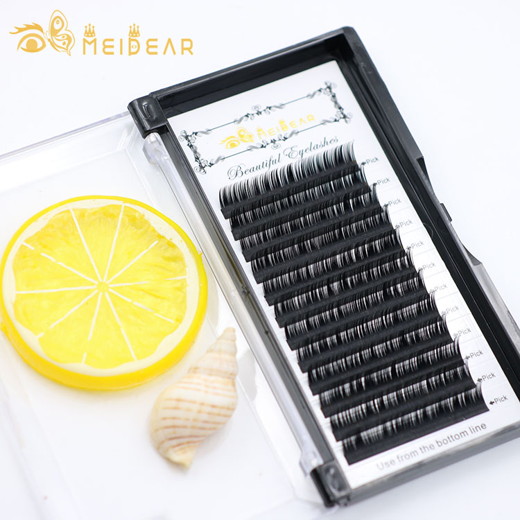 Eye lash producer supply natural looking eyelash individual extensions with custom packaging box