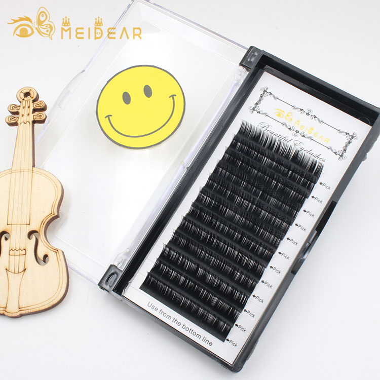 Wholesale lash supplies provide thickness 0.07mm 0.10mm 0.12mm B C CC D curl eyelash extension
