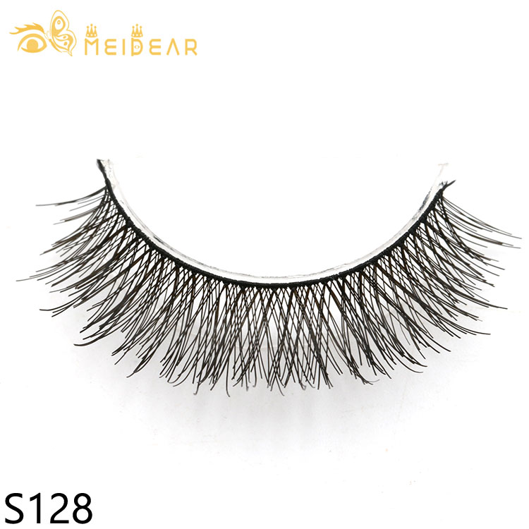Silk lashes manufacturer supply fluffy and natural silk material eyelash with private label packages