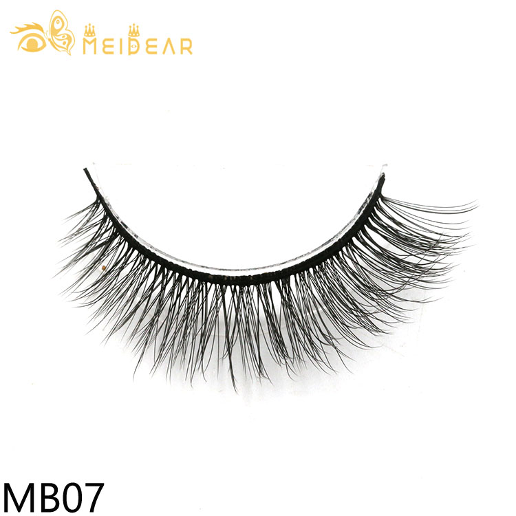 Manufacturer wholesale luxury and natural 3d silk eyelashes with private label packaging boxes from factory China