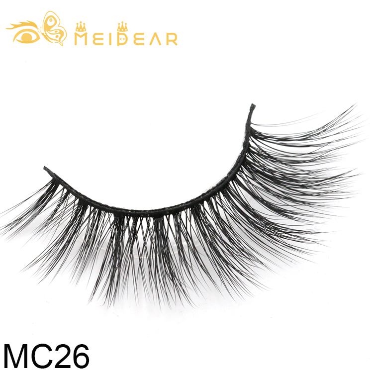 Private label 3d silk eyelashes with custom lashes box from China factory