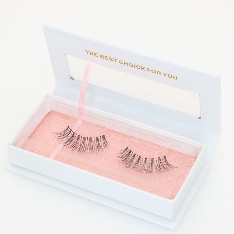 Manufacturer wholesale glamorous private label human hair strip false lashes to USA