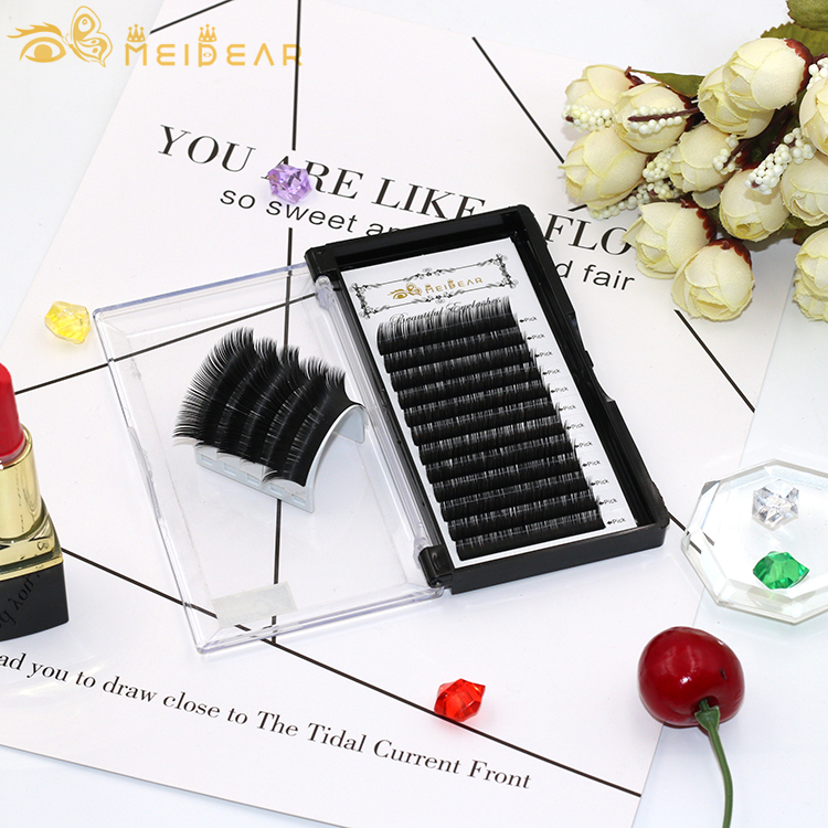 Purchase high quality silk eyelash extension with best price wholesale semi permanent eyelash extensions