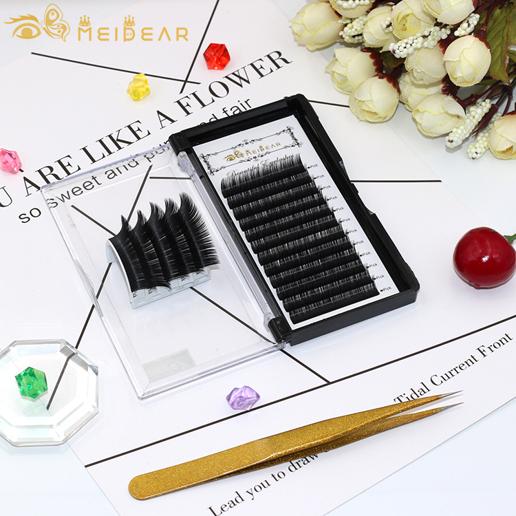 Eyelash extensions manufacturer supply to US Europe silk lashes extensions