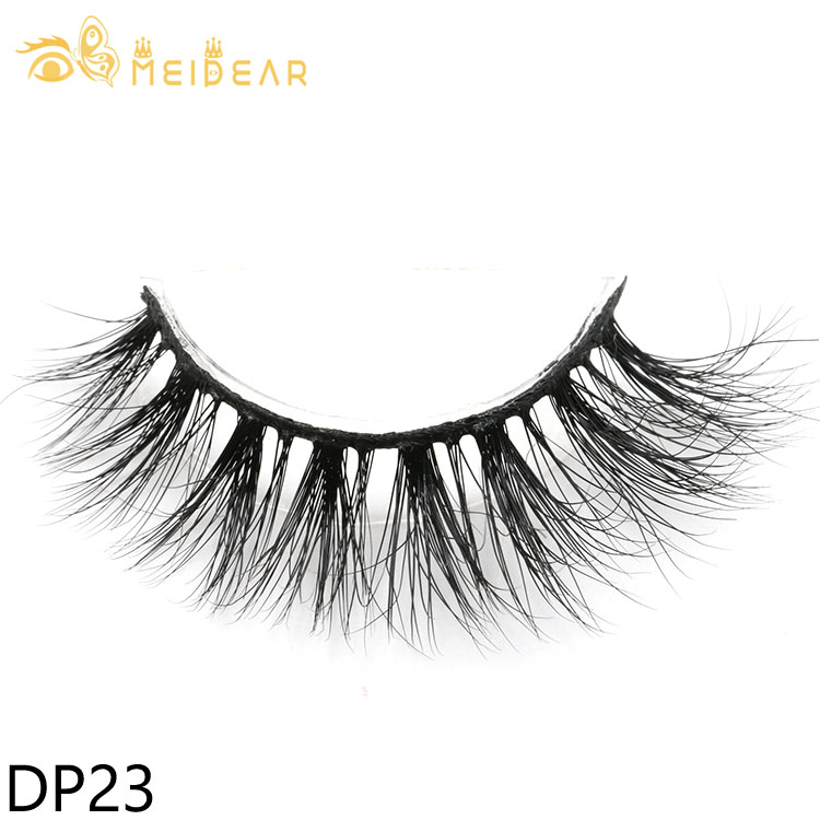 Private label 3d mink strip eyelashes with own brand packaging to USA