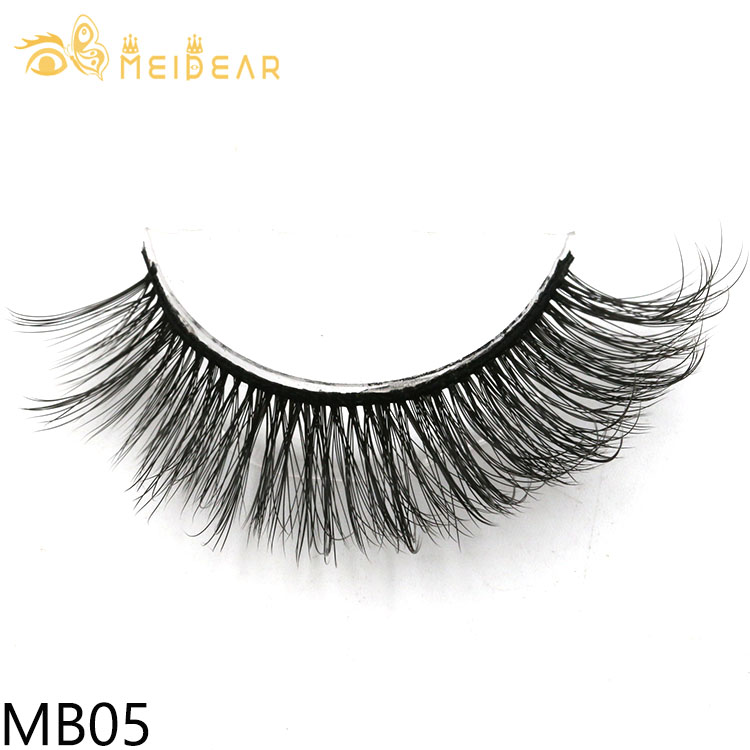 Eyelash wholesale distributor provide soft and natural  3d silk lashes with private label boxes from China