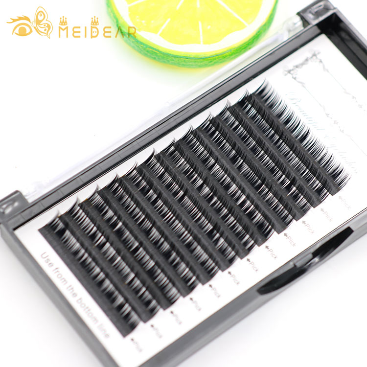 Handmade individual eyelash extensions with custom package from manufacturer in wholesale price