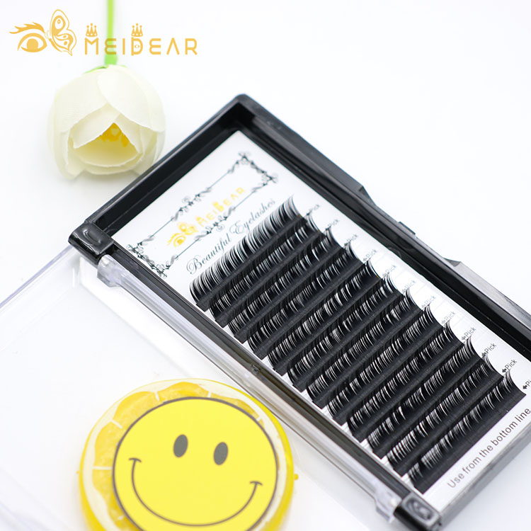 Manufacturer wholesale fake eye lashes individual extensions with packaging own logo design
