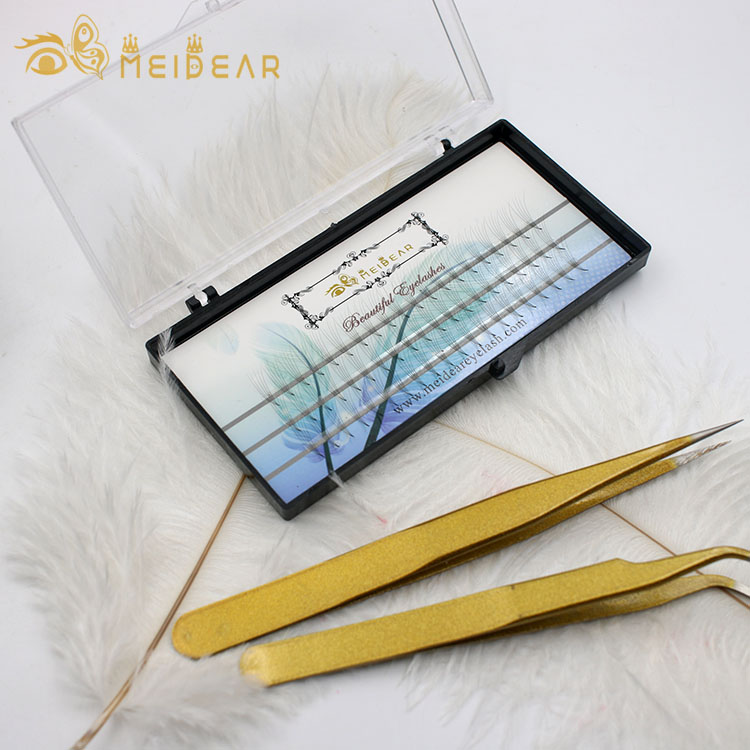 Manufacturer supply handmade prefan volume lash extension with wholesale price thickness 0.05 0.07 0.10mm