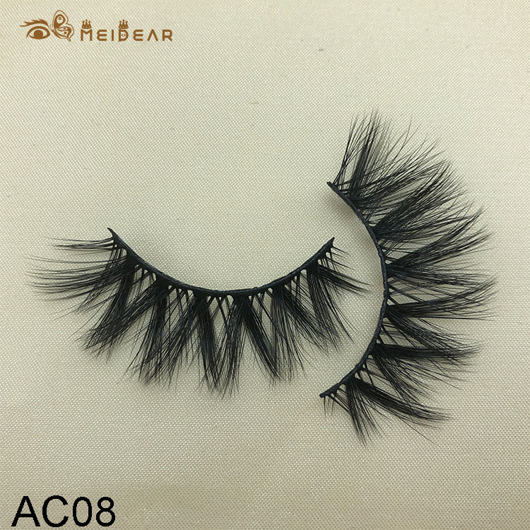 Synthetic faux mink eyelashes AC08  $1.0 per pair