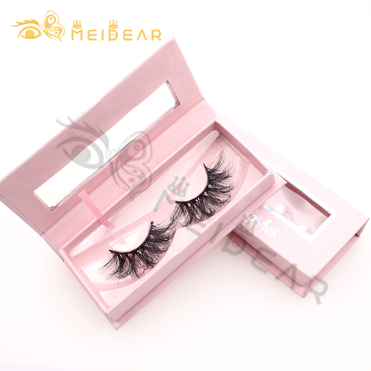 Manufacturer wholesale 3D Siberian mink eyelash 25 mm false lashes at competitive price with customized packaging boxes-BW