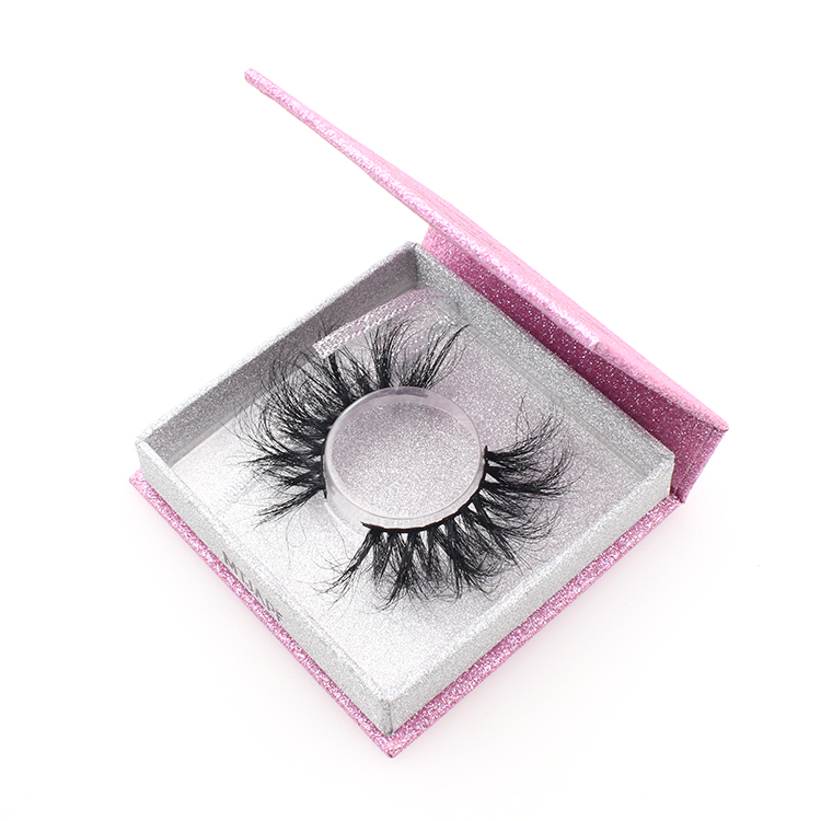 Lash vendor supply 3d mink eyelashes 25mm with eyelash packaging box to US-SX