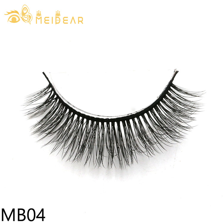 Private label false eyelash packaging 3d silk lashes with own brand box