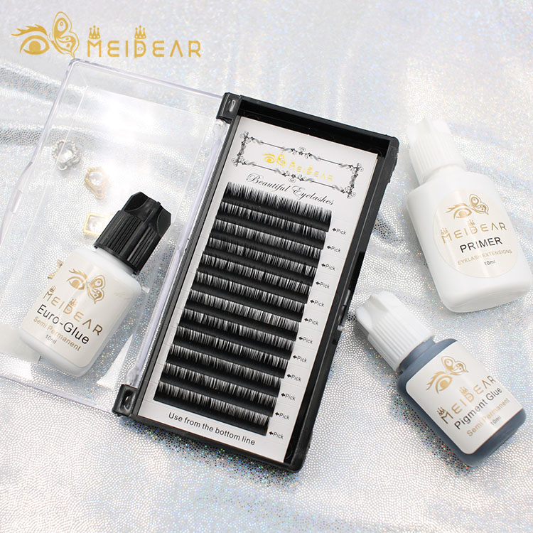 Natural and luxury mixed length individual eye lash extension with cheap price from factory