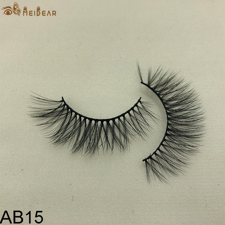 Synthetic faux mink eyelashes AB15
