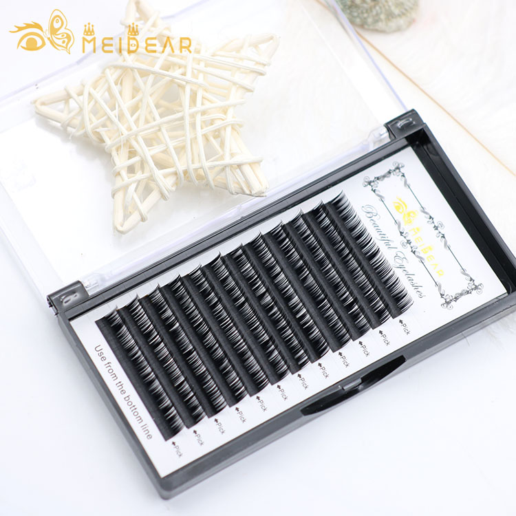 Individual lashes supplier wholesale professional eyelash extensions with top faux mink material