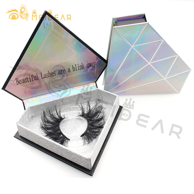 Lash vendors 3D 5D 6D strip 25mm false eyelashes with custom eyelash packaging UK