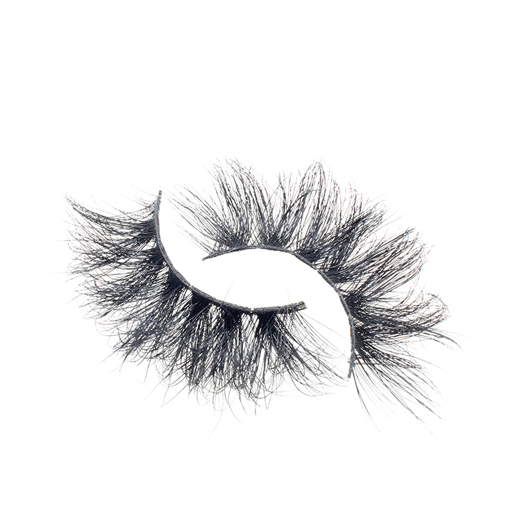 Vendor wholesale 25mm 3D mink fur lashes with private label packaging box to UK