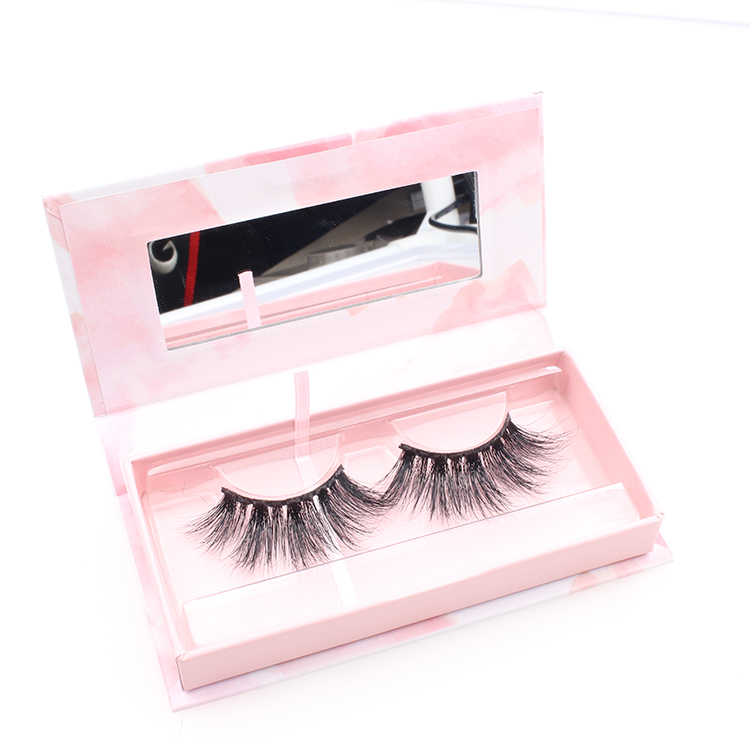 Lashes vendor supply custom box for 25mm 27mm long 3D mink eyelashes