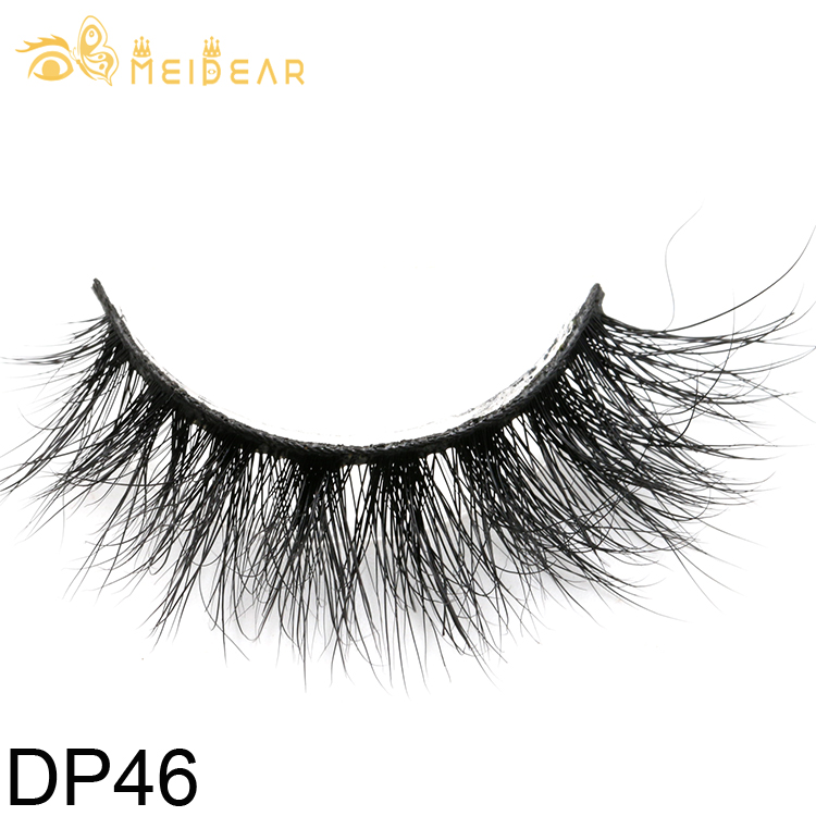 Lashes packaging supply natural and highest quality 3D mink eyelashes with own brand packaging