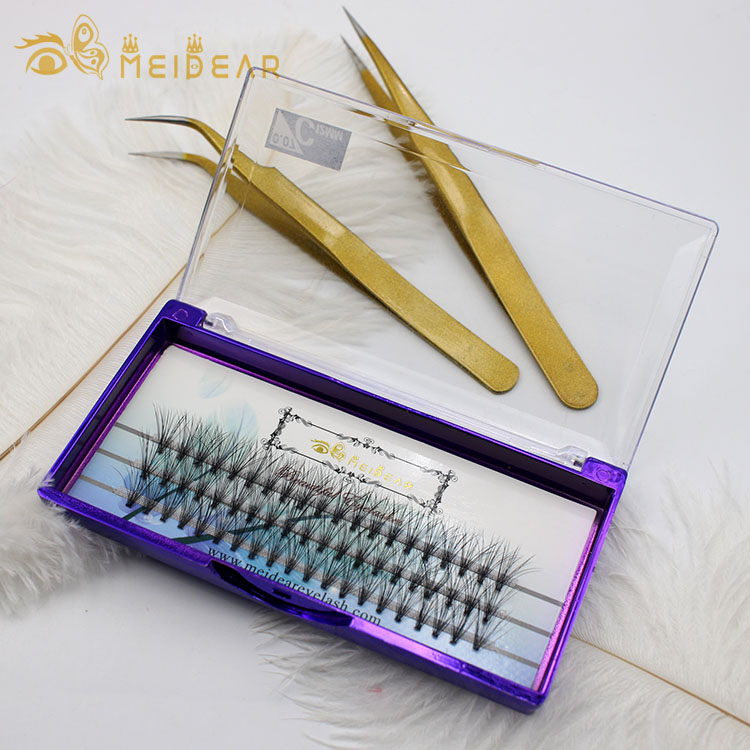 Distributor supply handmade C and D curl prefan  russian volume eyelashes with factory price