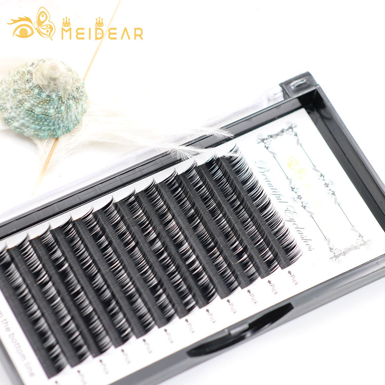 Wholesale best selling eyelash individual extensions with private label packaging box from factory